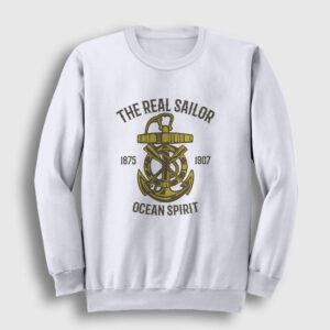 Ocean Spirit Sweatshirt beyaz