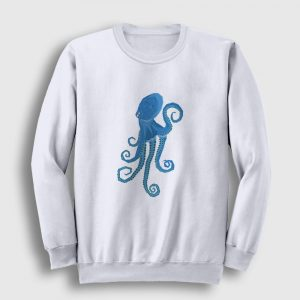 Octopus Sweatshirt beyaz