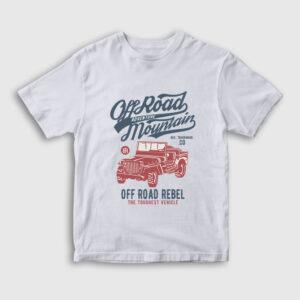 Off Road Jeep Çocuk Tişört beyaz