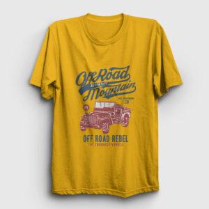 Off Road Jeep Tişört sarı