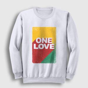 One Love Sweatshirt beyaz