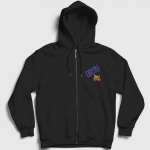 Ordu Fermuarlı Kapşonlu Sweatshirt siyah