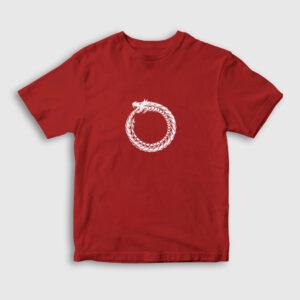 Ouroboros Çocuk Tişört kırmızı