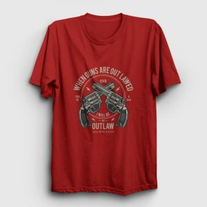 Outlaw Tişört kırmızı