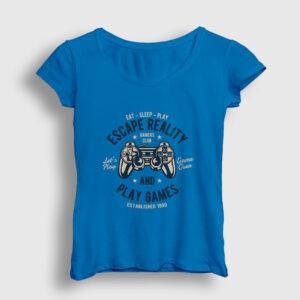 Oyun Kolu Kadın Tişört açık mavi