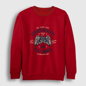 Oyun Kolu Sweatshirt kırmızı