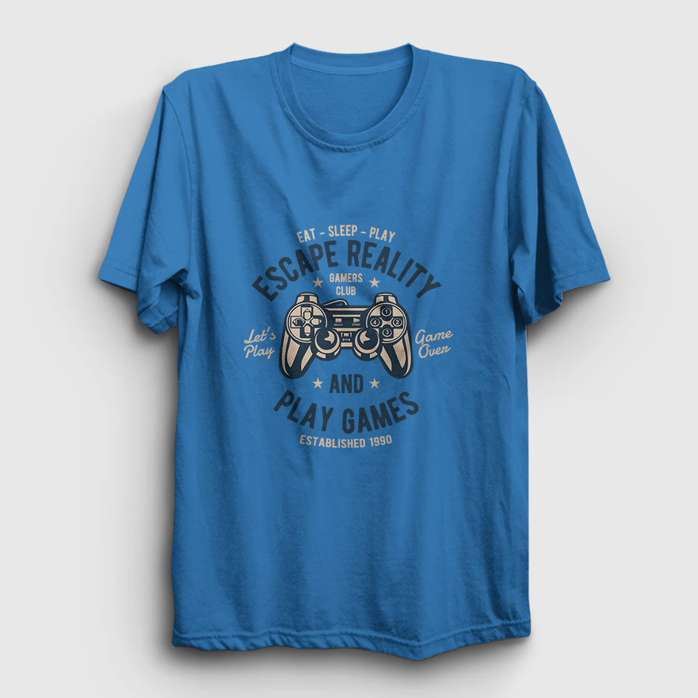 Oyun Kolu Tişört açık mavi