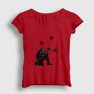 Paintball Kadın Tişört kırmızı