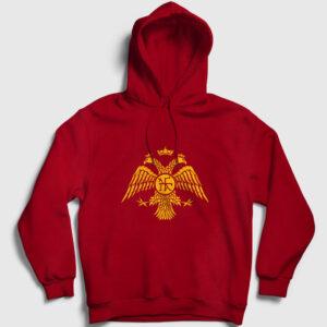 Paleologos Kapşonlu Sweatshirt kırmızı