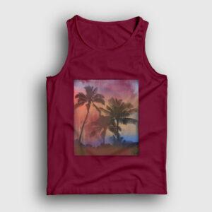 Palmiye Ağacı Atlet bordo