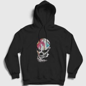 Palyaço Kapşonlu Sweatshirt siyah