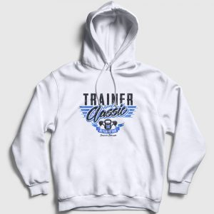 Personal Trainer Kapşonlu Sweatshirtü beyaz