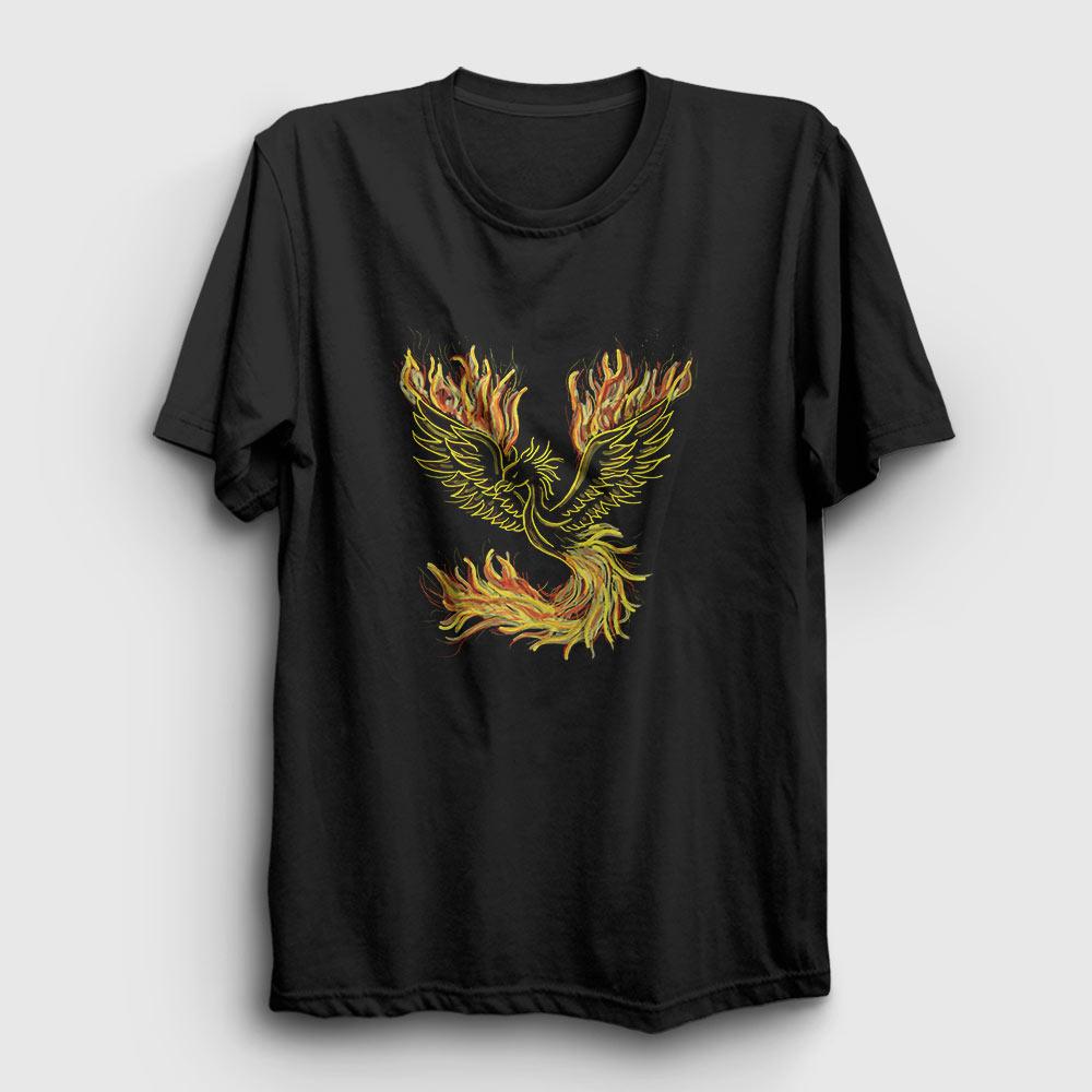 phoenix tişört siyah