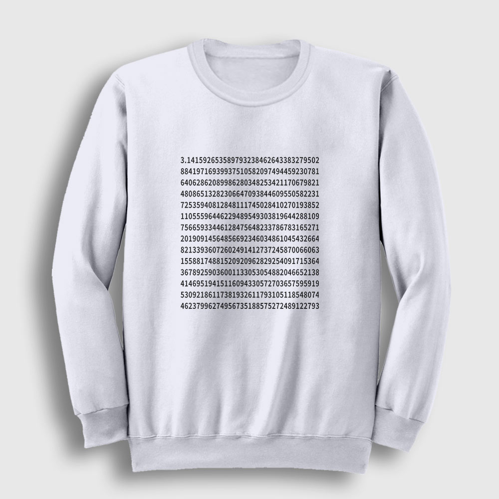 Pi Sayısı Sweatshirt beyaz