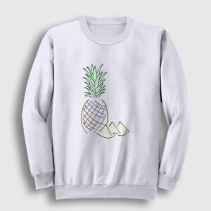 Pineapple Sweatshirt beyaz