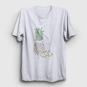 Pineapple Tişört beyaz