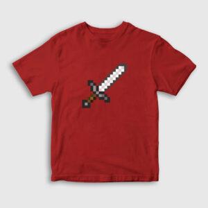 Pixel Sword Çocuk Tişört kırmızı