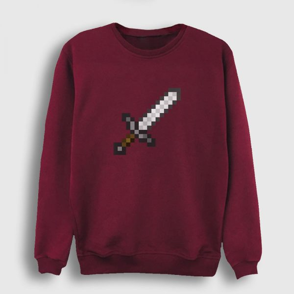 Pixel Sword Sweatshirt bordo