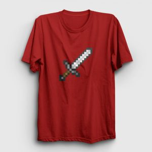 Pixel Sword Tişört kırmızı