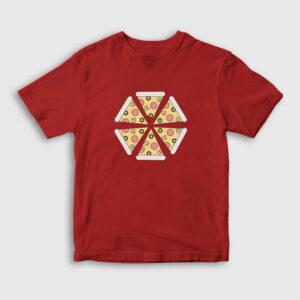 Pizza Slices Çocuk Tişört kırmızı
