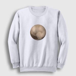 Plüton Sweatshirt beyaz
