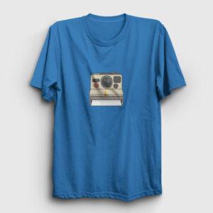 Polaroid Kamera Tişört açık mavi