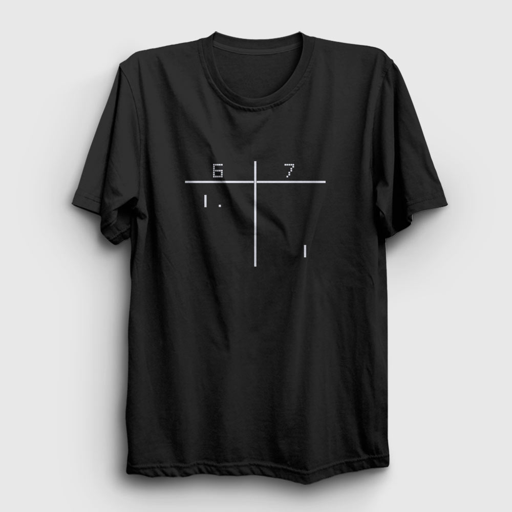 pong tişört siyah