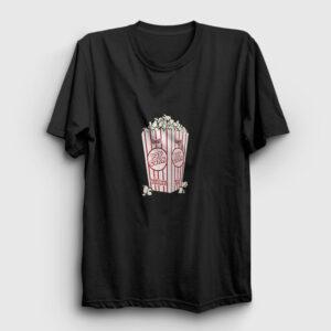 Pop Corn Tişört siyah