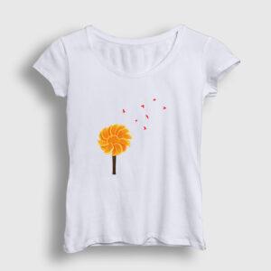 Portakal Ağacı Kadın Tişört beyaz