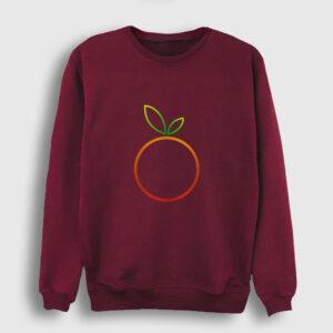 Portakal Sweatshirt bordo