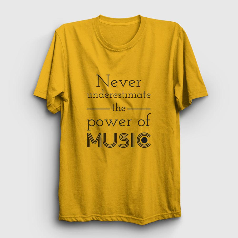 power of music tişört sarı