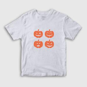 Pumpkins Çocuk Tişört beyaz