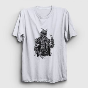 Punk Samuray Tişört beyaz