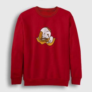Puppy Mine Sweatshirt kırmızı