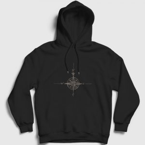 Pusula Kapşonlu Sweatshirt siyah