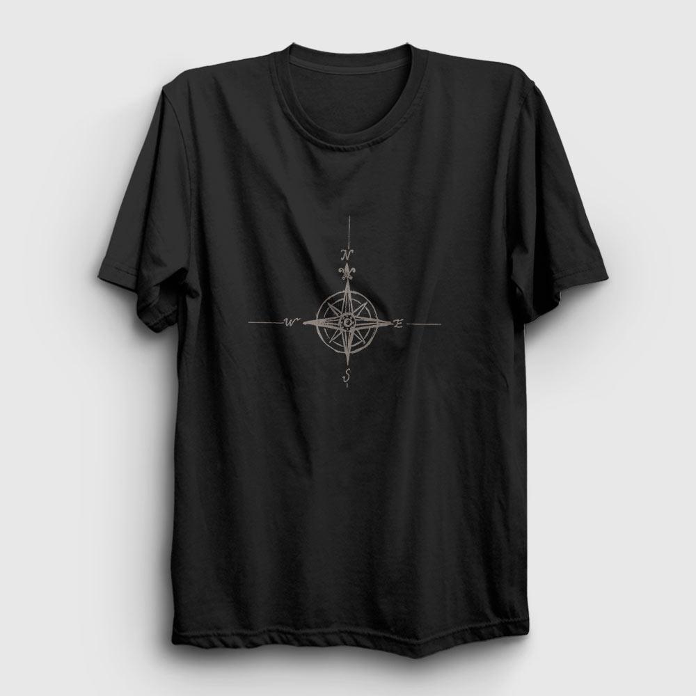 pusula tişört siyah