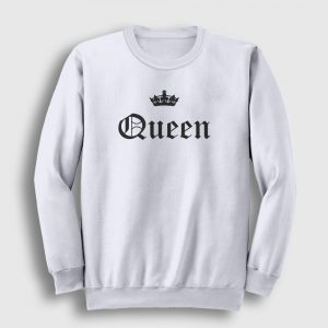Queen Sweatshirt beyaz