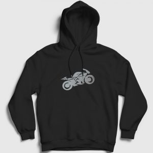 Racer Kapşonlu Sweatshirt siyah
