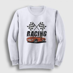 Racing Sweatshirt beyaz