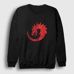 Red Dragon Sweatshirt siyah