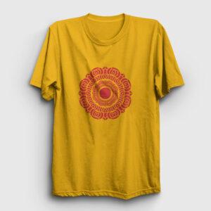 Red Lotus Mandala Tişört sarı