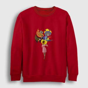 Renkli Düşünceler Sweatshirt kırmızı
