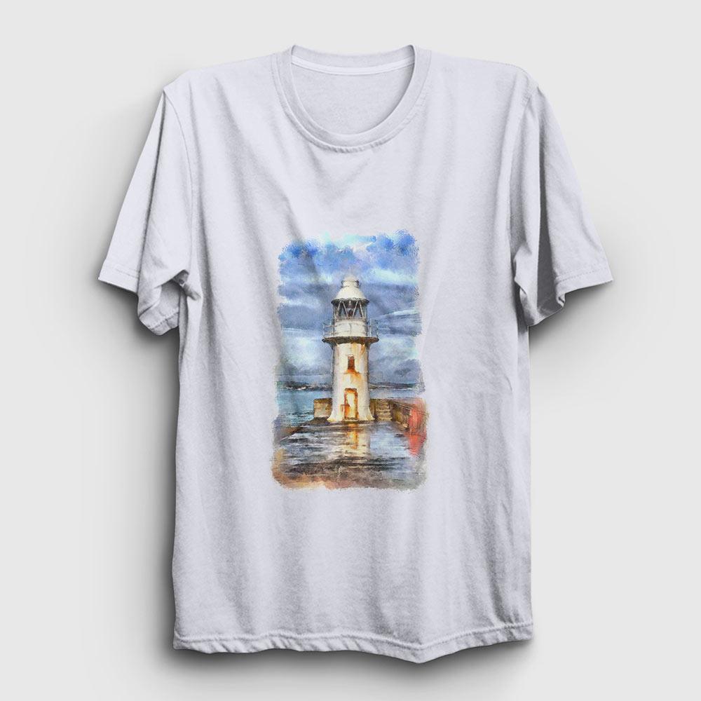 resim deniz feneri tişört