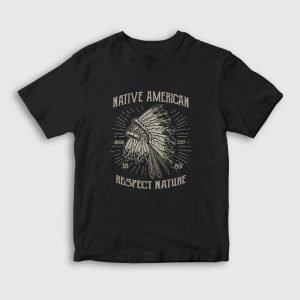 Respect Nature Çocuk Tişört siyah