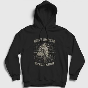 Respect Nature Kapşonlu Sweatshirt siyah