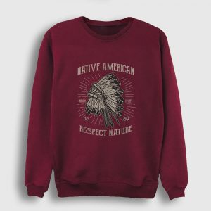 Respect Nature Sweatshirt bordo