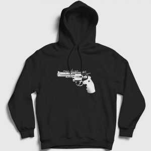 Revolver Kapşonlu Sweatshirt siyah