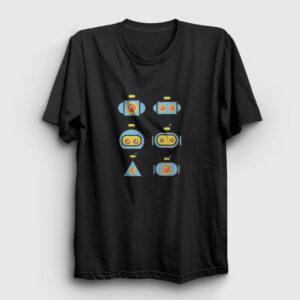Robots Tişört siyah