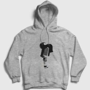 Rockn Roll Kapşonlu Sweatshirt gri kırçıllı