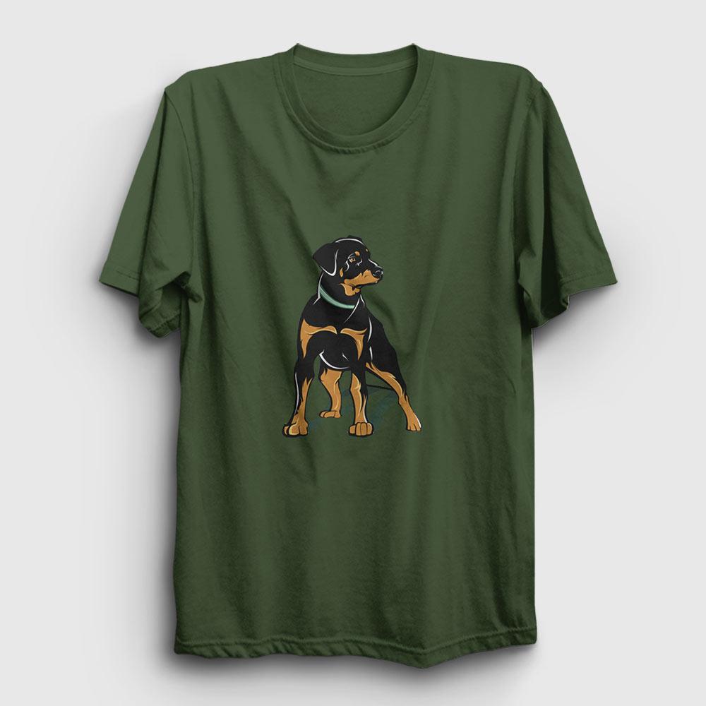 Rottweiler Tişört haki